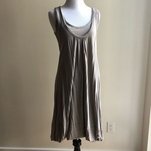 Marc by Marc Jacobs grey double layer tank dress